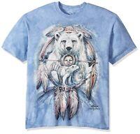 Spirit Bear Native American Dreamcatcher The Mountain Blue Cotton T-Shirt L-3X