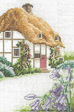 Thatched cottage counted cross stitch chart 902