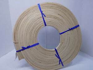 "FLAT REED 5/8"" SPLINT 100 Foot Coil Chair Basket Cane Spline Weave NOS"