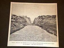 Grecia Apertura Canale di Corinto Golfo di Egina