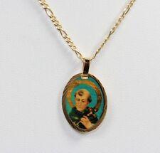 San Luis Beltran Medalla 18K Chapado en Oro con Cadena