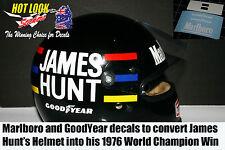 1/2 James Hunt Helmet 1976 Missing Vinyl Decals F1 McLaren Ford