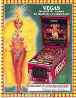 VEGAS By GOTTLIEB 1990 ORIGINAL NOS PINBALL MACHINE SALES FLYER BROCHURE