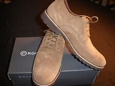 ROCKPORT WALKABILITY LH Vicuna Suede Solid Browns Oxfords Wing Tip Sz 10 M NIB