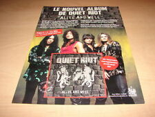 QUIET RIOT - ALIVE AND WELL!FRENCH VINTAGE PRESS ADVERT