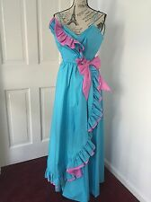 80s Vintage Prom Party Evening Dress