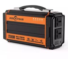 Rockpals 250-Watt Portable Generator Rechargeable Lithium Battery Pack Solar AC