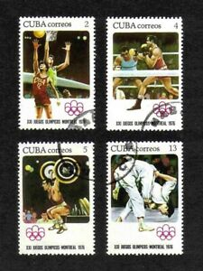Caribbean Region 1976 Olympic Games, Montreal, short set of 4 values used