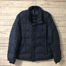 Tommy Hilfiger Winter Coat Blue Puff Jacket Mens Size XL