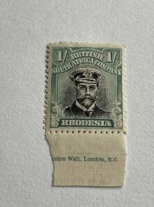 Rhodesia Admiral Marginal 1/- Green