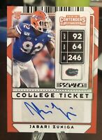 JABARI ZUNIGA 2020 Panini CONTENDERS Draft COLLEGE TICKET #213 ROOKIE RC AUTO