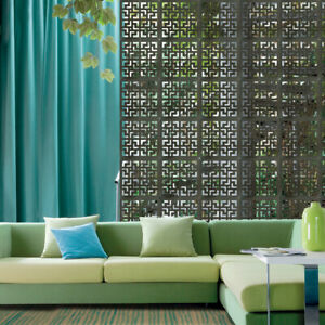 12pcs Hanging Screen Divider Wooden Panel Living Room Partition Room Divider Art
