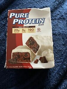 1 Box Pure Protein Red Velvet 190 Calories 6 CNT 20g Protein Bar EXPIRATION 5/21