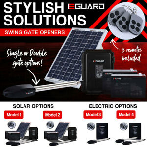 E-GUARD Automatic Solar Electric Gate Opener Remote Control Motor Swing