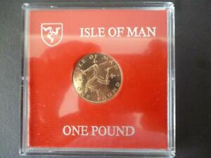 1982 Percy's Isle Of Man £1 one pound coin uncirculated housed in a rigid case.