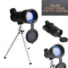 Black 20X50 HD Sporting Monocular Telescope with Tripod+Handle Band
