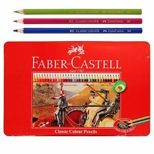 FABER CASTELL 36 Classic Color Pencils in Tin Box Set Art Drawing Painting