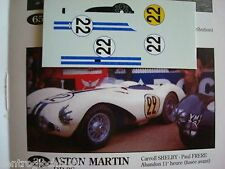 DECALS KIT 1/43 ASTON MARTIN DB3S LE MANS 1954 C.SHELBY
