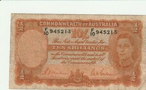 Australia Ten Shillings World War II Short Snorter