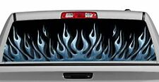 Truck Rear Window Decal Graphic [Flames / Flame Up Blue] 20x65in DC89107