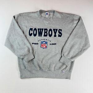 Russell Dallas Cowboys Vintage NFL Pro Line Sweatshirt Gray 90s Men's Size Large