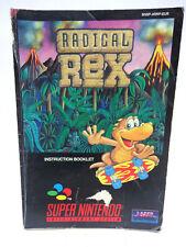 Anleitung - Handbuch - Bedienungsanleitung Super Nintendo - Redical Rex