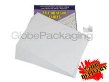500 Hojas - 12 por hoja-Calidad A4 sencillos impresora de etiquetas de dirección * oferta *