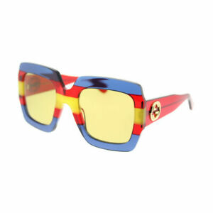 Gucci GG 0178S 002 Multicolor Plastic Fashion Sunglasses Brown Lens