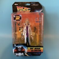 """Neca Back to the Future 35th Toony Classics  6"""" Figure DocBrown and Einstein"""