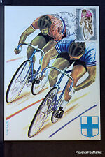 CYCLING TRACK MARSEILLE 1972 CARD MAXIMUM FRANCE Premier Day 1° FDC Yt1726/1c