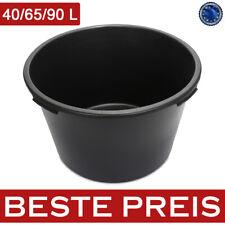 Mörtelkasten Schwarz 40 - 90 Liter Mörtelwanne Zementkübel Mörtelkübel Baueimer