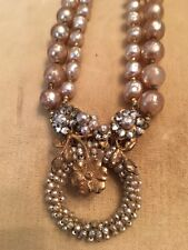 Vintage Miriam Haskell Signed Baroque Pearl Necklace