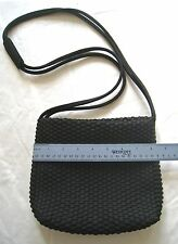NINE WEST • BLACK WOVEN FABRIC SHOULDER BAG • EUC!
