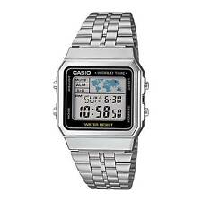 Casio A500wa-1 Digital Watch Chronograph 5 Alarms Date World Time