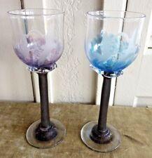 """Set of 2 Toasting Glasses Wedding Bride & Groom 9"""" Etched Doves Celebration"""