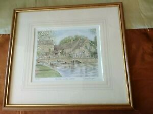 Framed Limited Edition Print of Bourton on the Water  Signed By Artist