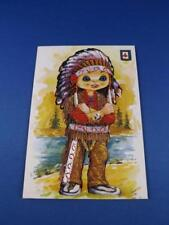 EMBROIDERED THREAD POSTCARD NATIVE AMERICAN INDIAN