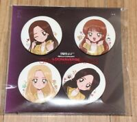 LOONA LOOΠΔ CONCERT LOONAVERSE LOOΠΔVERSE OFFICIAL GOODS PIN BUTTON SEALED