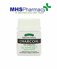 Activated Charcoal Tablets Carbon Indigestion Capsules 100 Heartburn Dyspepsia