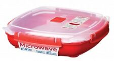 Sistema 1.3L Large Square Plate Removable Steaming Tray Microwavable Lunch Box