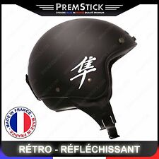 Kit 4 Stickers Retro Reflechissant Hayabusa ref2; Casque Moto autocollant