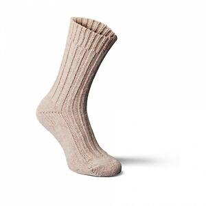 Alpaka-Socken dick Woll-Socken Größe 35/38 hellbraun Damen und Herren
