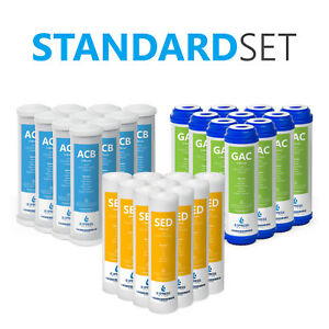 Express Water 2 Years Alkaline Reverse Osmosis System Replacement Filter Set 10 inch Size Water Filters 20 Filters with 50 GPD RO Membrane