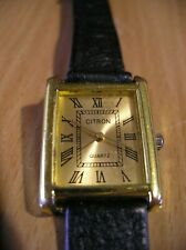 GENUINE CITRON ELEGANT WATCH WOMEN`S ANALOGUE DISPLAY gold face