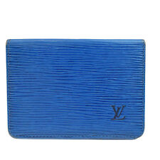 Auth LOUIS VUITTON 2 Vertical Bifold Pass Card Case Epi Leather M63205 08V903