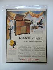 Life Magazine Photo Print Advertisement Rca Victor 1947