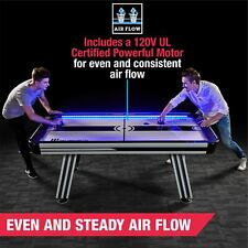 7 ft Air Powered Hockey Table with Electronic Scorer LED Lights and Sound Effect