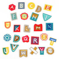26PCS/Set Embroidered Letter Iron Sew On Patches Badge Fabric Applique Crafts RA