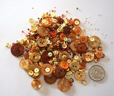 NO 558 Scrapbooking -100+ Autumn Buttons Beads/Sequins - Embellishments