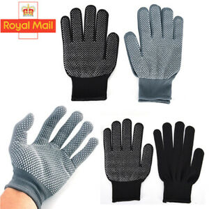 Pair Heat Resistant Gloves Curling Protective Heat Proof for Hair Straightener H